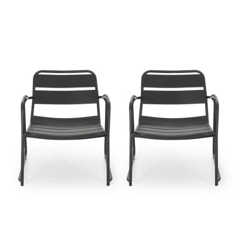 Cowan Outdoor Dining Chair (Set of 2) by Christopher Knight Home