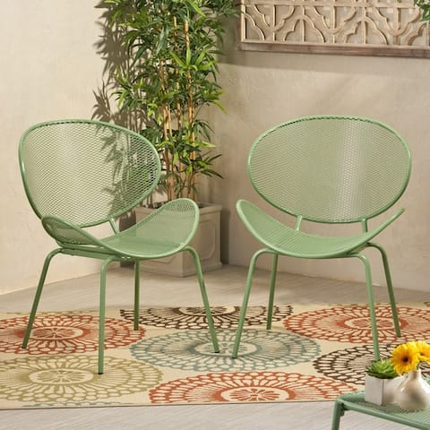 Elloree Outdoor Dining Chair (Set of 2) by Christopher Knight Home