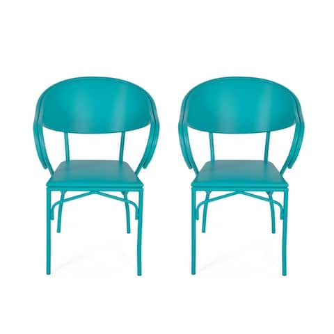 Palm Desert Outdoor Modern Dining Chair (Set of 2) by Christopher Knight Home