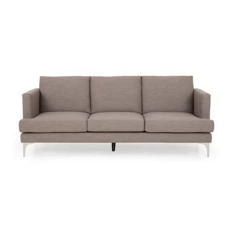 "Cason Modern 3 Seater Fabric Sofa by Christopher Knight Home - 87.75"" W x 34.50"" D x 35.25"" H"