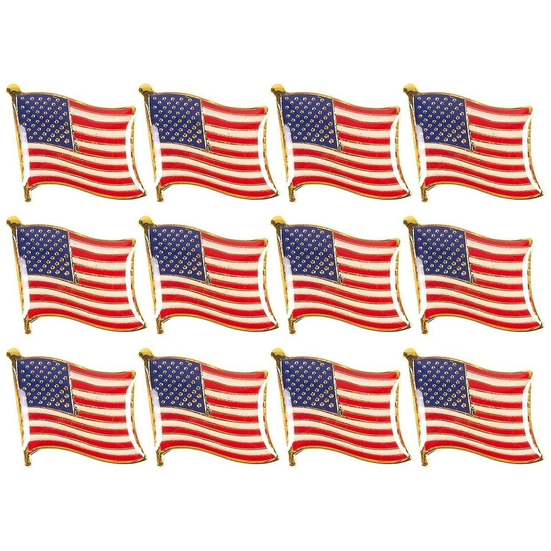 High Quality American Waving Flag Lapel Pin Patriotic USA
