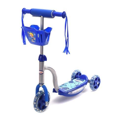 Chromewheels PIXIE PLUS GLIDEKICK 3 Wheel Toddler Scooter With Sounds & Lights - Multi
