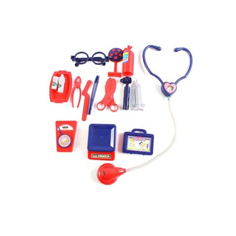 Wonderplay 16PCS medical kit Kids Toy Portable Doctor Set with Pretend Play Doctor Accessories - Multi