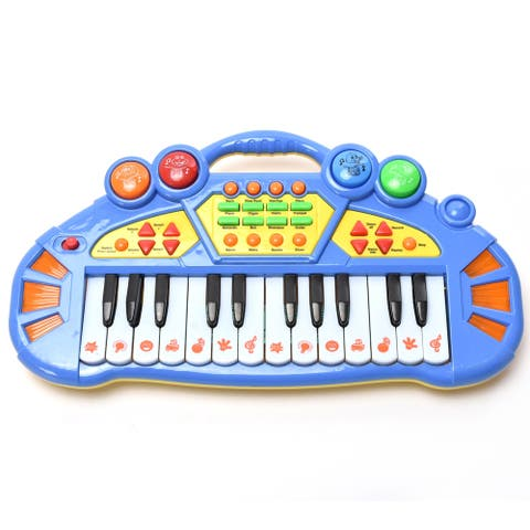 Wonderplay 24-key electronic keyboard with light music, 3*AA (not included) Music Education Toys - Multi