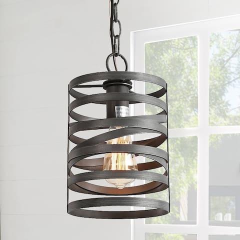 "Rustic Mini Pendant Light Hanging Lighting for Kitchen Island Farmhouse - W7""x H11.8"" - W7""x H11.8"""
