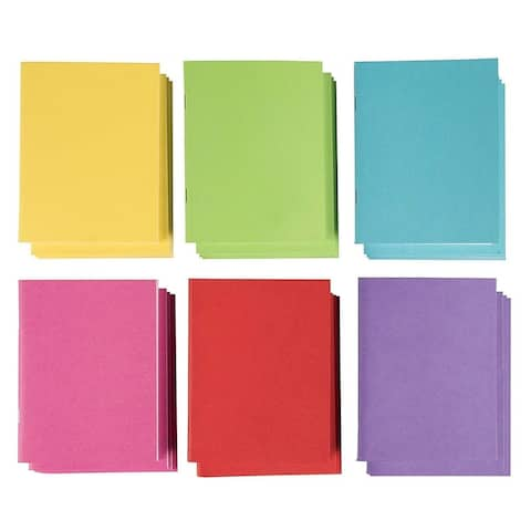 24-Pack Blank Book Colorful Notebooks Unlined Plain 6 Colors 4.2 x 5.5, 24 sheet