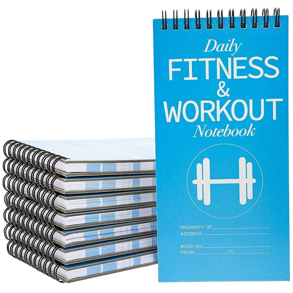 Juvale 12 Pack Daily Fitness Workout Planner Tracker Notes Journal Notebook 8 X 4 From Overstock Com Shefinds
