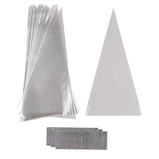 """300pcs Disposable Piping Bag Icing Cake Cream Decorating Pastry Tool 6.5"""" x 13"""""""
