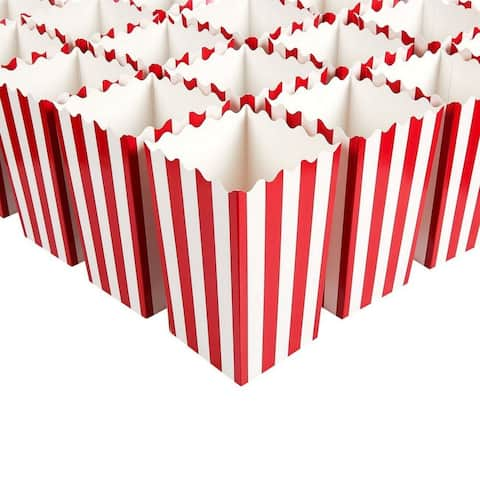 100 Mini Popcorn Favor Boxes for Carnival Parties Paper Candy Containers 3x3.9x3