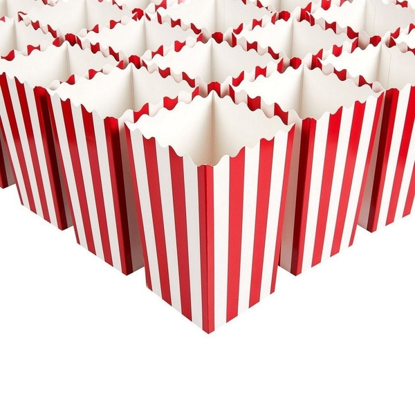 100 Mini Popcorn Favor Boxes for Carnival Parties Paper Candy Containers 3x3.9x3. Opens flyout.