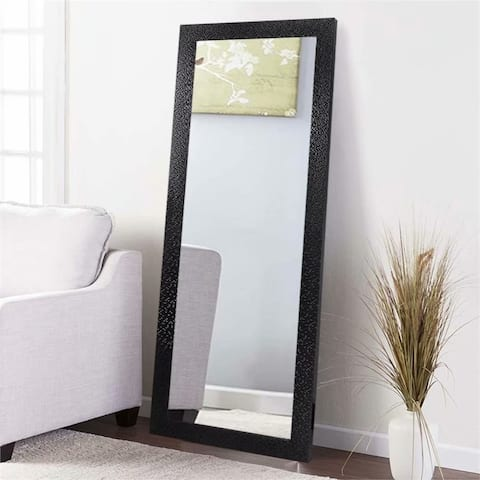 Thin Mosaic Wide Brimmed Full Length Floor Mirror - 64.17x21.26