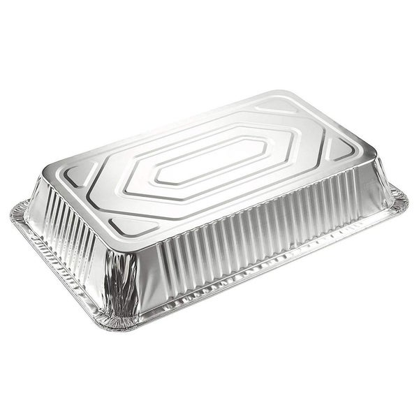 Cooking Broiling Aluminum Foil Pans 20.5 x 3.3 x 13 Inches Roasting 15-Piece Full-Size Deep Disposable Steam Table Pans for Baking