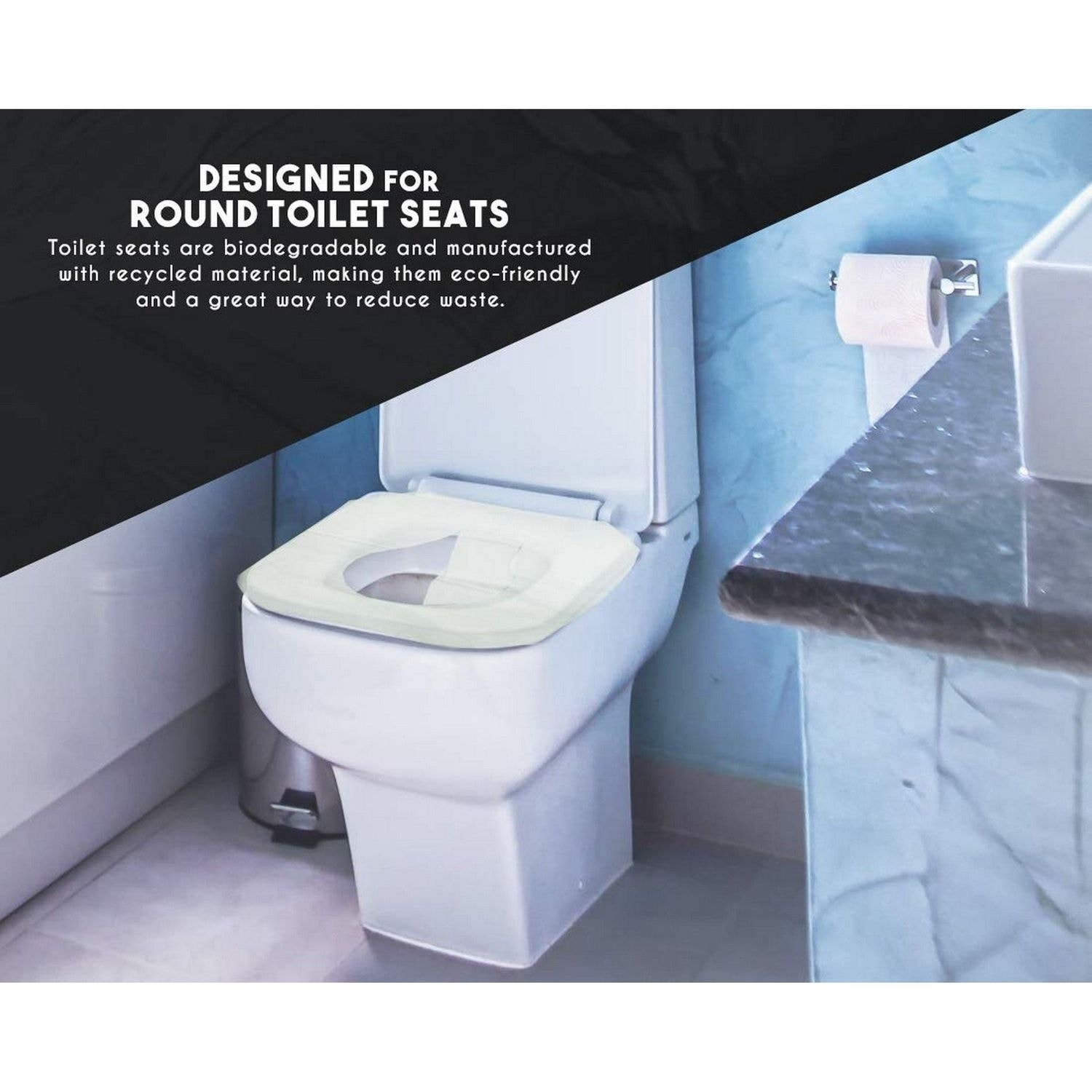 DISPOSABLE TOILET SEAT COVERS Paper Sanitary Camping Travel Flushable Shan