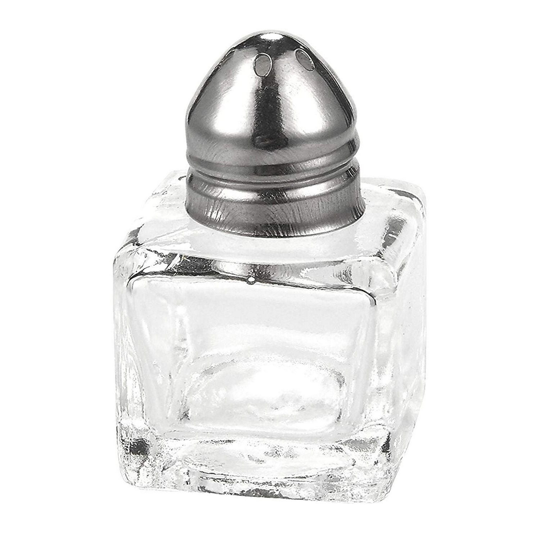 U228 Dollhouse Set of Mint Green Seasoning Pepper Salt Bottle Miniature