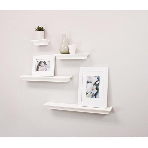 Floating Shelves White, Ledge Wall Shelf, Super Sturdy