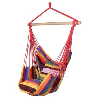 Hanging Rope Hammock Chair Swing Seat, Large Hammock Net Porch Chair - N/A