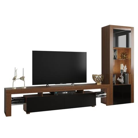 Strick & Bolton D'Olivier Modern TV Stand and Bookcase