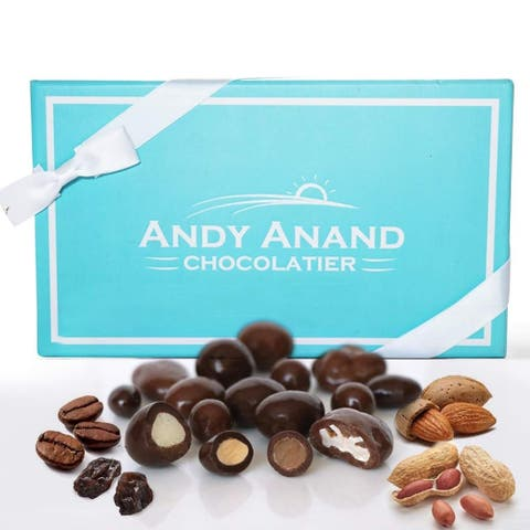 Andy Anand's Milk & Dark Chocolate Sugar Free Bridge Mix of Almonds, Coffee, Raisins, Peanuts 1 lbs