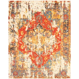 Hand-knotted Signature Collection Red Wool Rug ECARPETGALLERY - 8'1 x 10'0