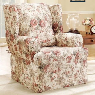 Sure Fit Chloe Floral Wing Chair Slipcover