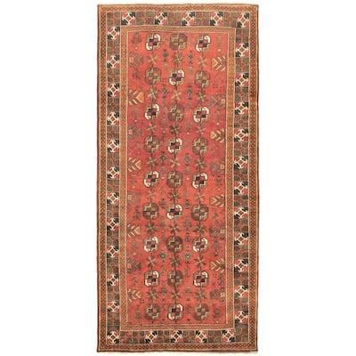 Hand-knotted Shiravan Bokhara Copper Wool Rug