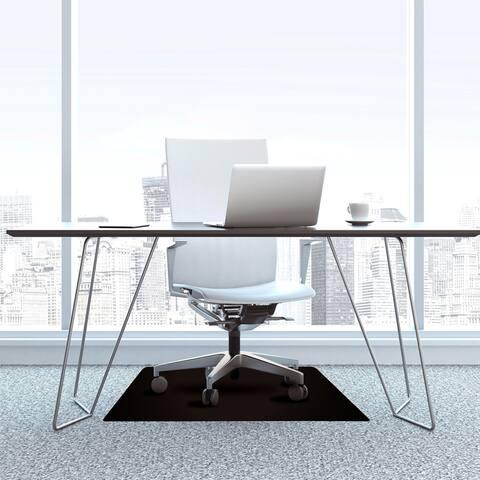 """Advantagemat® Black Vinyl Rectangular Chair Mat for Carpets - 48"""" x 60"""""""