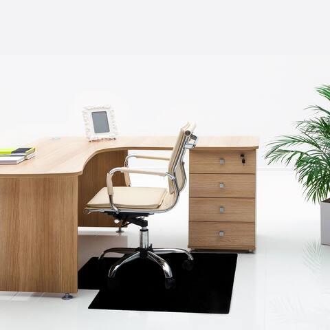 """Advantagemat® Black Vinyl Rectangular Chair Mat for Carpets - 29.5"""" x 47"""""""