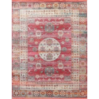 Vintage Style Turkish Geometric Oriental Distressed Heat-Set Area Rugs