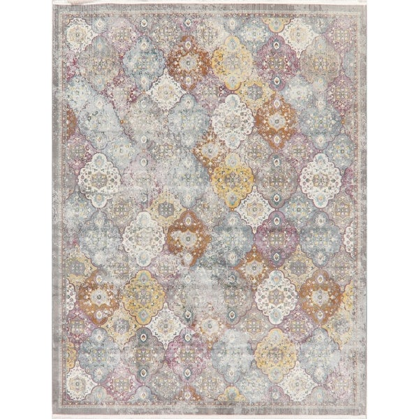 Patchwork Vintage Style Colonical Distressed Heat-Set Area Rugs