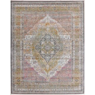 Floral Oriental Vintage Style Distressed Home Decor Heat-Set Area Rugs