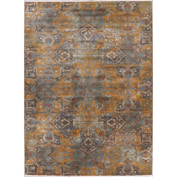 Art & Craft Distressed Geometric Turkish Area Rugs Living Room
