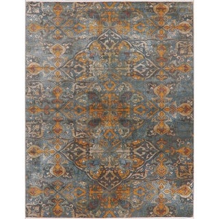 Transitional Art & Craft Distressed Area Rugs Home Decor Heat-Set