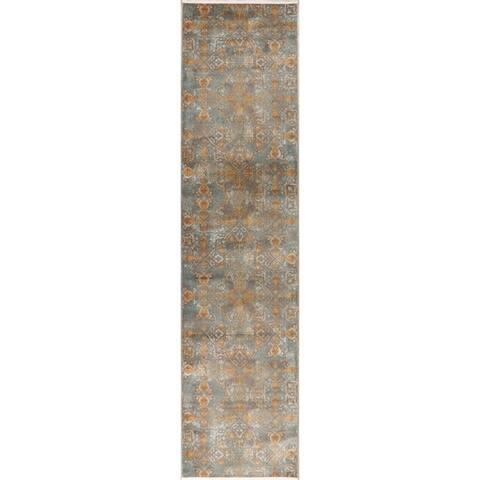 Transitional Art & Craft Distressed Area Rugs Home Decor Heat-Set