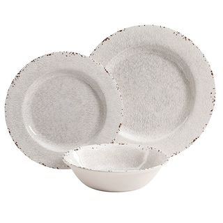 Link to Mauna 12 Piece  Dinnerware Set in Ice Crackle Look Decal Similar Items in Dinnerware