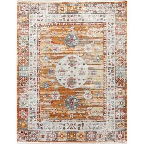Distressed Geometric Turkish Vintage Style Oriental Area Rugs Kitchen