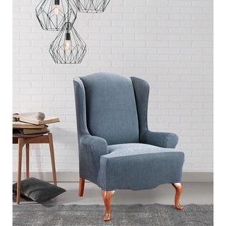 Sure Fit Stretch Stripe Wing-Chair Slipcover & Recliner Covers u0026 Wing Chair Slipcovers - Shop The Best Deals for ... islam-shia.org