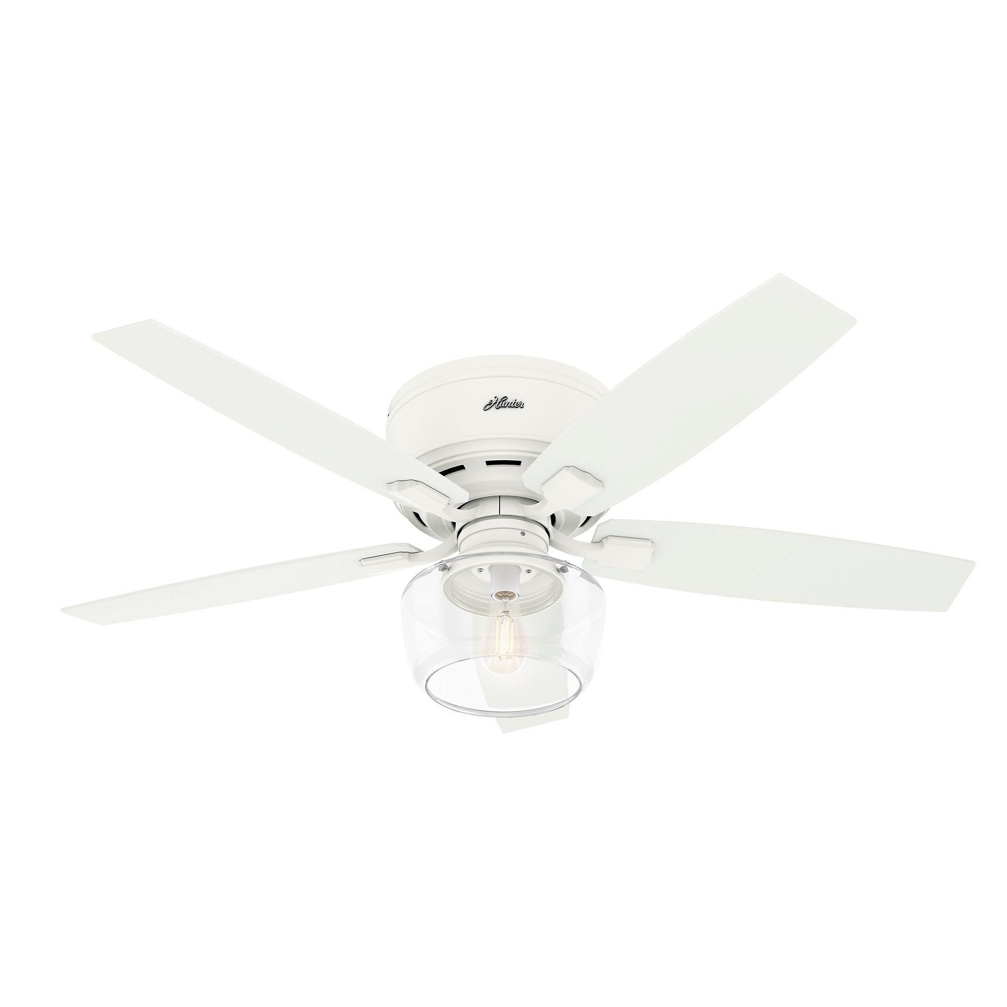 Bennett Low Profile White Ceiling Fan