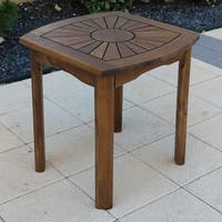 International Caravan Highland Sun Burst Outdoor Side Table