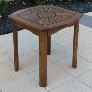 International Caravan Highland Sun Burst Acacia Hardwood Outdoor Side Table
