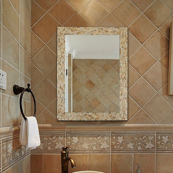 Copper Grove Haarlem Seashell Mosaic Wall Mirror