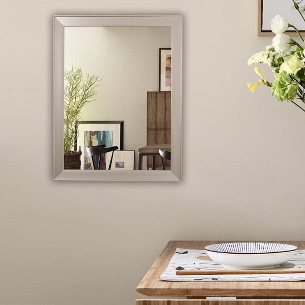 Copper Grove Heerhugowaard Silvertone-framed Wall Mirror
