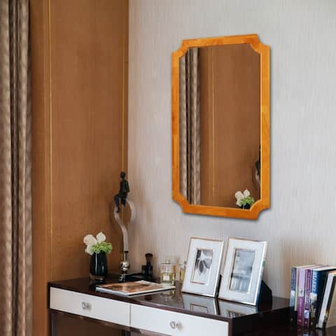 Carson Carrington Salved Maple Wall-mounted Accent Mirror