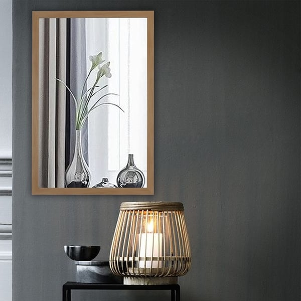 Carson Carrington Salubole Wall-mounted Textured Brass Accent Mirror - Textured Brass