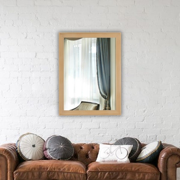 Carson Carrington Salubole Golden Oak Wall-mounted Accent Mirror - Golden Oak