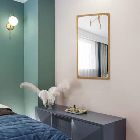 Carson Carrington Salubole Rectangular Wall-mounted Accent Mirror - Maple