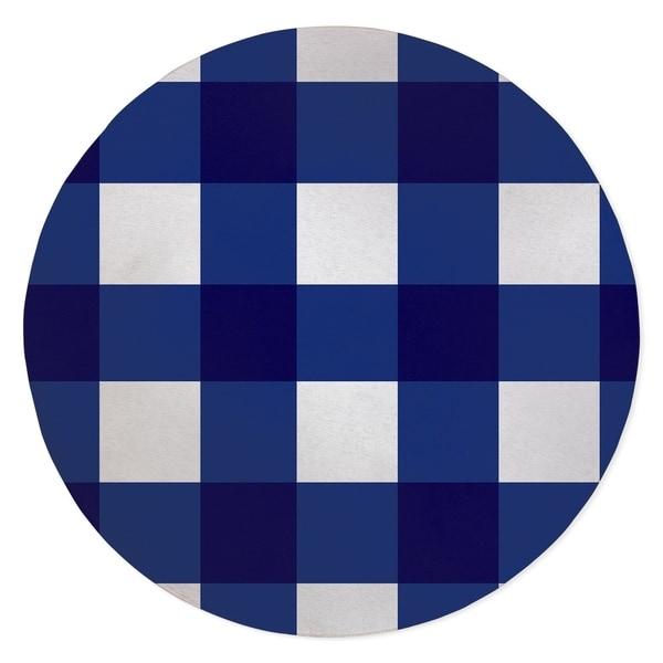 BARRETT BUFFALO CHECK BRIGHT BLUE Area Rug By Kavka Designs