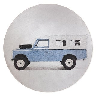 BASS LIGHT BLUE LAND ROVER Area Rug By Kavka Designs