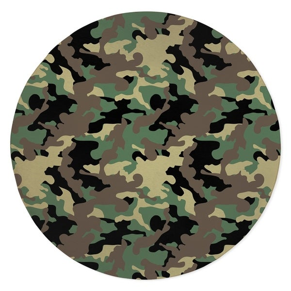 CAMO FLOW GREEN BLACK BROWN Area Rug By Kavka Designs