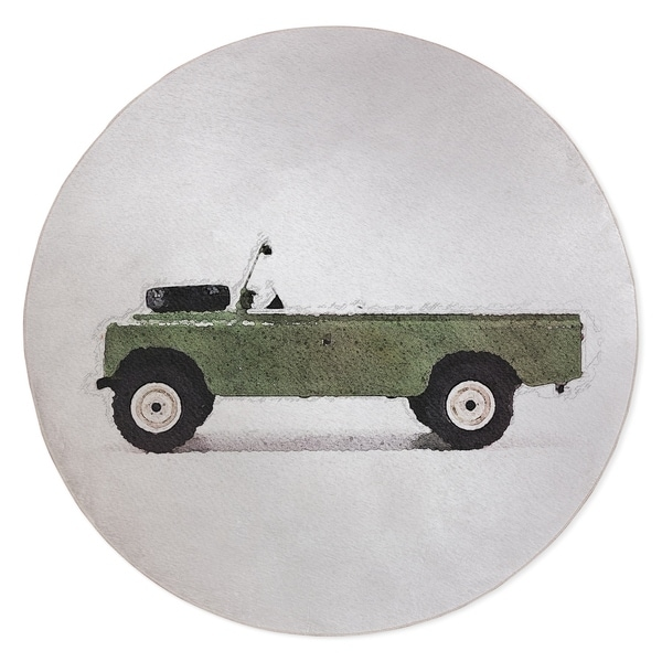 BRYAN VINTAGE LAND ROVER Area Rug By Kavka Designs