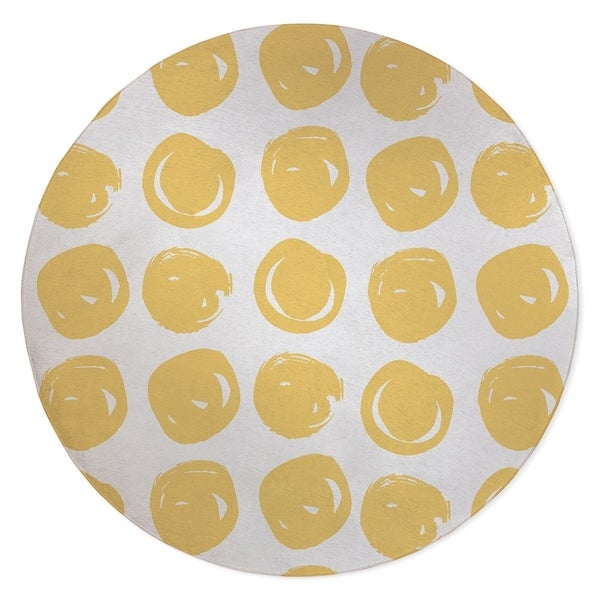 CLAY CIRCLE YELLOW Area Rug By Kavka Designs